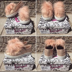 Other - NEW IN BOX!!! Cute Furly Slip-On Sneakers